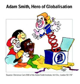 Fig. 6: A Christmas card from the Adam Smith Institute.